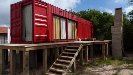 Casa Cabaña Container Con Deck Y Parrillero