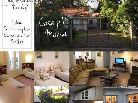 "Hermosa Casa ""da Noi"" En Punta Del Este Pda 14 De La Mansa"